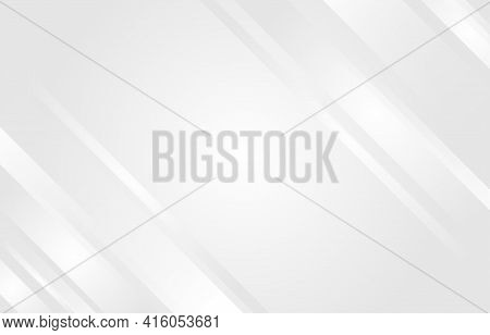 Gray And White  Diagonal Lines Geometry Tech Abstract Subtle Background Vector Illustration.