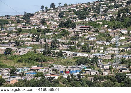 Low Cost Housing Built On Steep Sloping Land