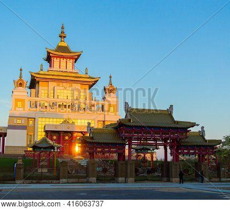 Burkhan Bakshin Altan Sume Buddhist Complex In Elista