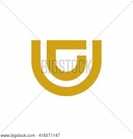 C Cu Uc Abstract Monogram Logo Template - Vector