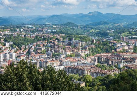Aerial View Of San Sebastian, Donostia, Spain On A Beautiful Summer Day