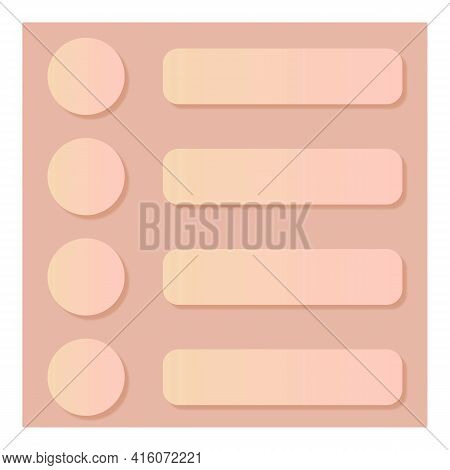 Abstract Background Is A Modern Digital Image With A Matte Effect. Background With Buttons And Lines