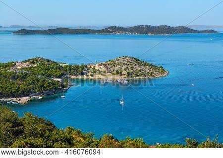 The Croatian coast and Adriatic sea