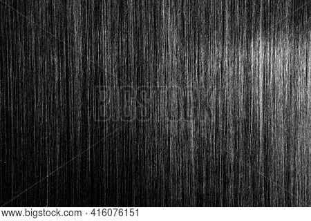 Close-up Empty Black Iron Plate With Detail And Texture Background, Copy Space For Put Text Characte
