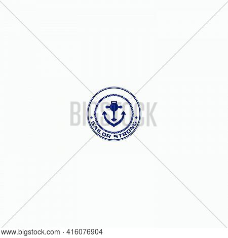 Strong Anchor Fitness Navigation Badge Logo Sport
