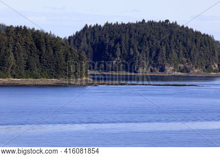 Strait Point, Alaska / Usa - August 13, 2019: Strait Point Coastline, Strait Point, Alaska, Usa