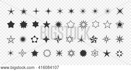 Stars Icons. Stars Collection. Modern Simple Stars. Concept Stars. Vector Illustration
