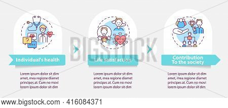 Positive Adult Development Effects Vector Infographic Template. Success Presentation Design Elements
