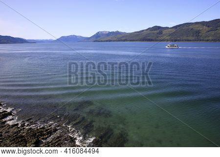 Strait Point, Alaska / Usa - August 13, 2019: Strait Point View And Landscape, Strait Point, Alaska,