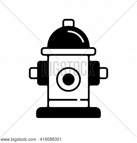 Fire Hydrant Linear Icon. Equipment For Water Supply. Firefighters Department. Fire Safety. Thin Lin