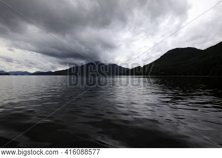 Neets Bay, Alaska / Usa - August 18, 2019: Neets Bay Coastline Landscape, Neets Bay, Alaska, Usa