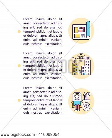 Shift To Localization Concept Line Icons With Text. Ppt Page Vector Template With Copy Space. Brochu