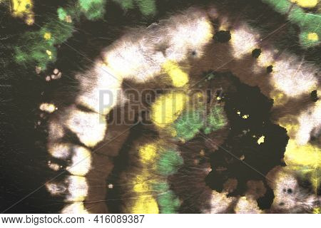 Psychedelic Tie Dye. Abstract Spiral Background. Magic Color Shirt. Watercolor Water Texture. Tie-dy