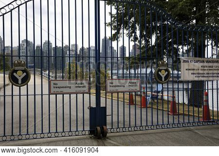 Vancouver, America - August 18, 2019: Vancouver View From A Iron Gate, Vancouver, America