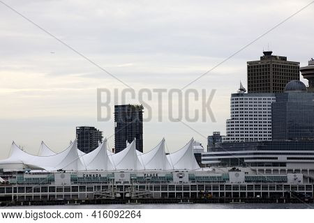 Vancouver, America - August 18, 2019: Vancouver View From Stanley Park, Vancouver, America