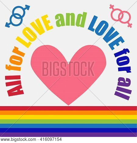 Lgbt Concept, Motivating Phrase In The Colors Of The Rainbow. Decoding Abbreviations Lgbt.