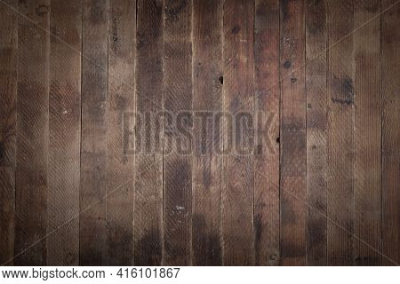 Old Natural Retro Shabby Wooden Background Consist Of Row Of Vertical Boards. Copy Space.