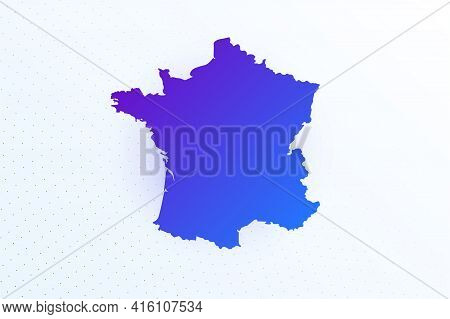 Map Icon Of France. Colorful Gradient Map On Light Background. Modern Digital Graphic Design. Light