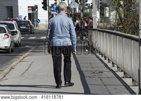 Senior Citizen On His Own, Solitude And Loneliness Among Old Men