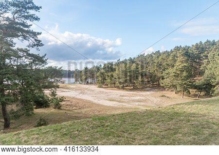 View From Mikoszewski Embankment. The Embankment Was Built On The Vistula River.