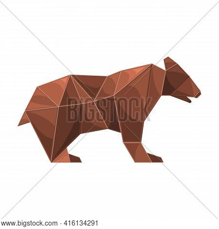 Origami Vector Icon.cartoon Vector Icon Isolated On White Background Origami.
