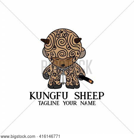 Sheep Cartoon Illustration Design Icon Vector. Sheep Animal Vector