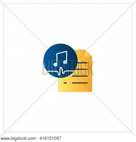 Work Ownership Flat Icon. Music. Copyright.control Intellectual Property In Creative Environment. 3d
