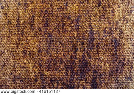 Beautiful Natural And Rustic Clay Background (series Of Copper Oxide Textures On Ceramic). Ocher And