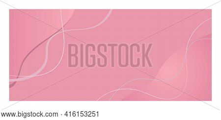 Pink Vector Background With Abstract Lines. Abstract Graphic Background Is Fashionable For Splash Sc