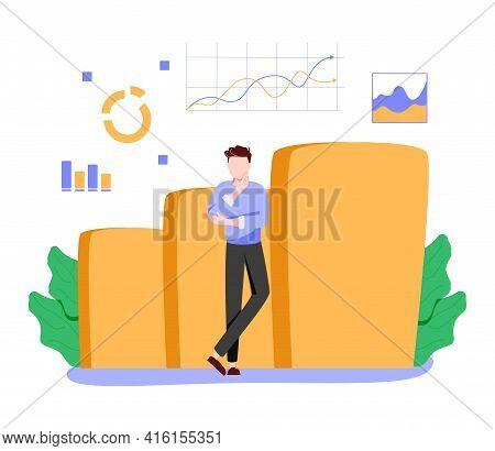 Company Performance Analysis Abstract Concept Vector Illustration. Business Statistics, Balanced Sco
