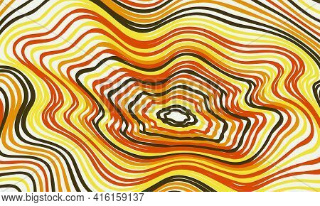 Psychedelic Groovy Background. Colorful Abstract Background.