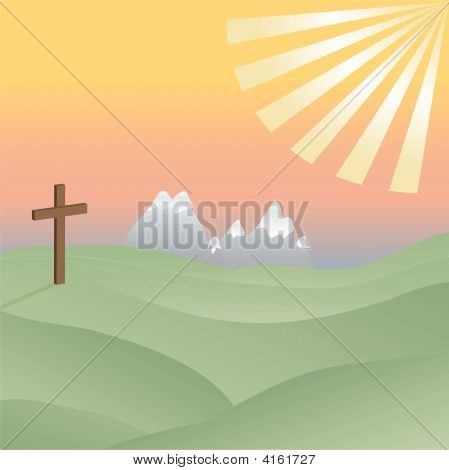Cross In A Sunny Valley