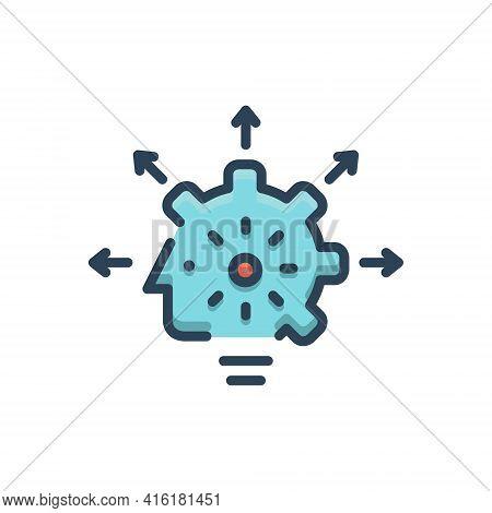 Color Illustration Icon For Capabilities Capacitation Ability Caliber Capability