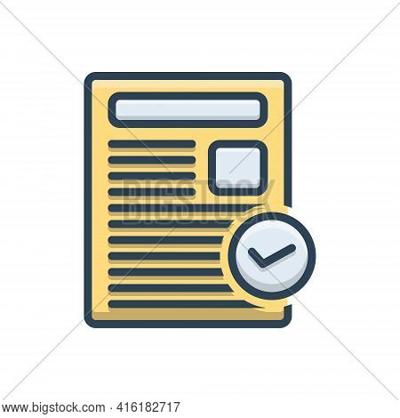 Color Illustration Icon For Actuality Genuineness Reality Tangibility Entity