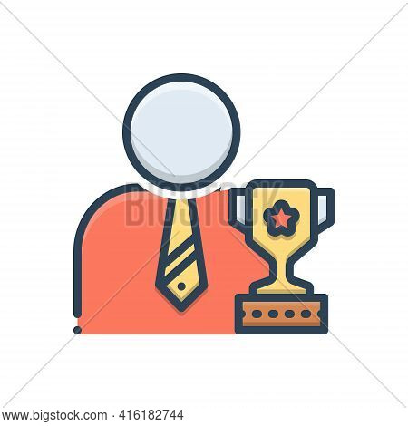 Color Illustration Icon For Ambitious Wishful Desirous Intending