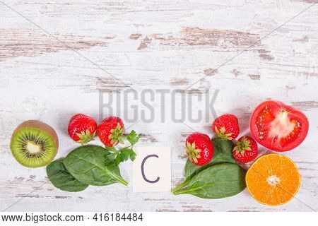 Fruits And Vegetables As Sources Of Minerals Containing Vitamin C, Dietary Fiber And Minerals, Stren