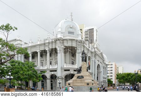 GUAYAQUIL, ECUADOR - FEBRUARY 15, 2017: Guayaquil Municipal Palace. The Municipal Palace is an architectural treasure whose modern renaissance style is a mixture of the Doric – Gothic art.