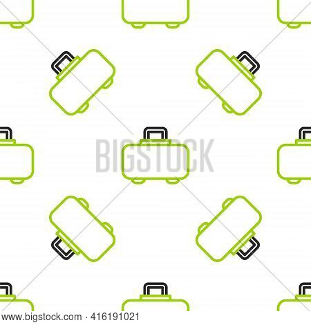 Line Weapon Case For Storing And Transporting Weapons Icon Isolated Seamless Pattern On White Backgr
