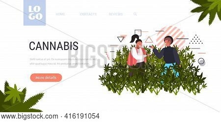 Man Woman Smoking Cannabis Joint Legal Marijuana For Recreational Use Drug Consumption Concept Weed