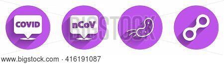 Set Corona Virus Covid-19 On Location, Corona Virus 2019-ncov On Location, Virus And Virus Icon With