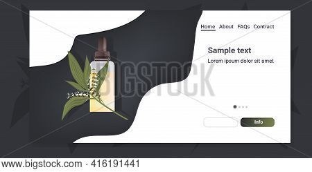 Dropping Essential Lily Of The Valley Oil Glass Bottle With Liquid And Flower Natural Face Body Beau