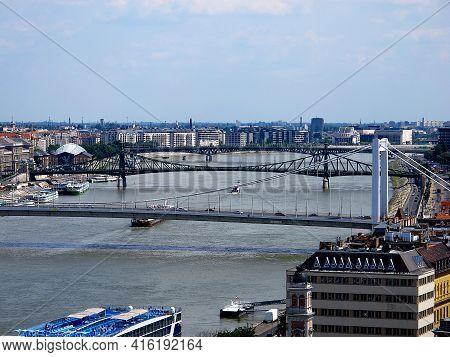 Budapest, Hungary - 12 Jun 2011: The Panoramic View Of Budapest City, Hungary