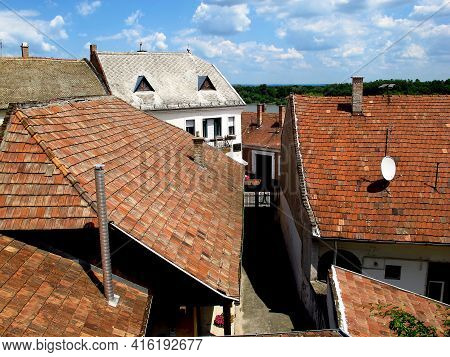 Szentendre, Hungary - 13 Jun 2011: Roofs Of Szentendre Town In Hungary Country