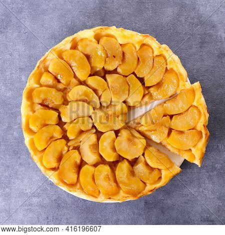traditional french tart tatin- apple pie