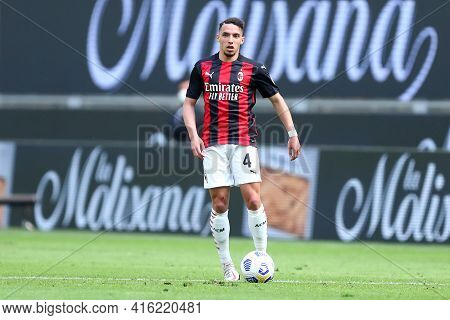 Milano, Italy. 03th April 2021 . Ismael Bennacer Of Ac Milan  During The Serie A Match Between Ac Mi