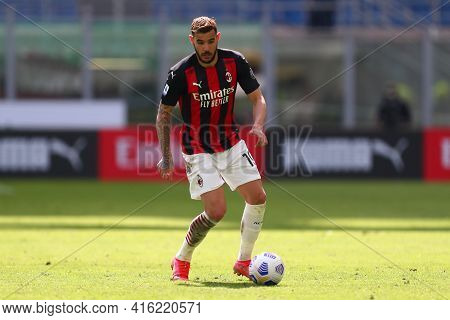 Milano, Italy. 03th April 2021 . Theo Hernandez Of Ac Milan  During The Serie A Match Between Ac Mil