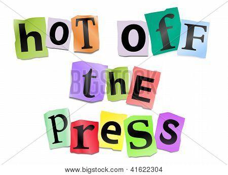 Recién salido de la prensa.