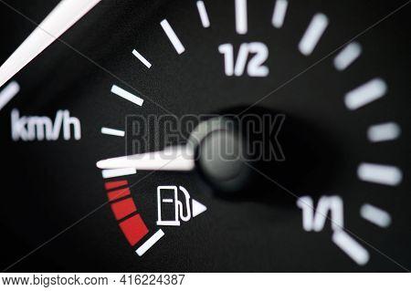 Low Gas Indicator In Car Dashboard