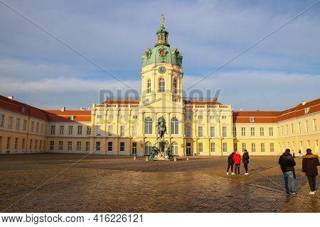 Berlin, Germany - December 06, 2020: Schloss Charlottenburg (charlottenburg Palace) In Berlin. It Is
