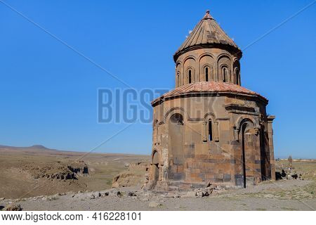 Church Of St Gregory Of The Abughamrents In Medieval City Ani, Near Kars, Turkey. Church Was Built I